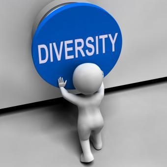 Free Stock Photo of Diversity Button Means Variety Difference Or Multi-Cultural
