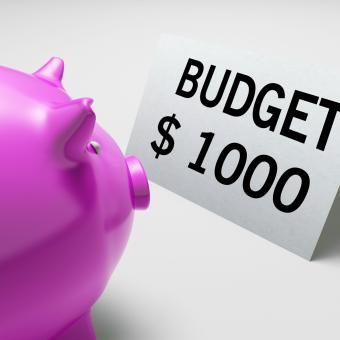 Free Stock Photo of Budget Dollars Shows Spending And Costs Savings