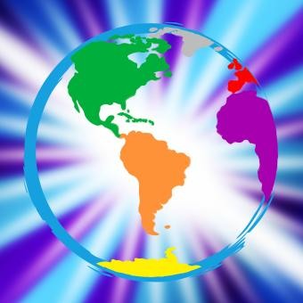 Free Stock Photo of Global Globe Represents Vibrant Planet And Globalisation
