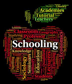 Free Stock Photo of Schooling Word Shows Study Schools And Education