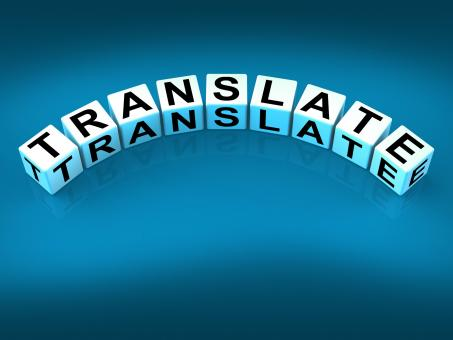 Free Stock Photo of Translate Blocks Show Multilingual or International Translator