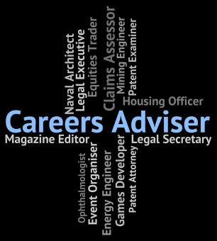 Free Stock Photo of Careers Adviser Shows Work Professions And Guide