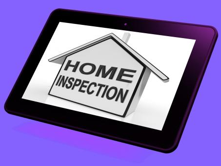 Free Stock Photo of Home Inspection House Tablet Means Assessing And Inspecting Property