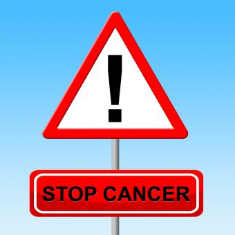 Free Stock Photo of Stop Cancer Shows Warning Sign And Danger