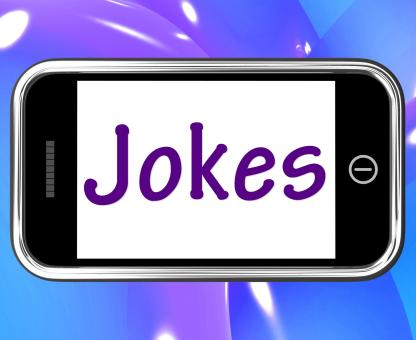 Free Stock Photo of Jokes Smartphone Means Humour And Laughs On Web