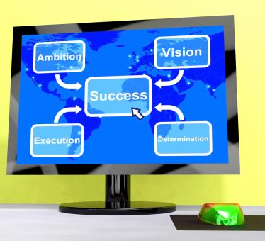 Free Stock Photo of Success Diagram Showing Vision And Determination