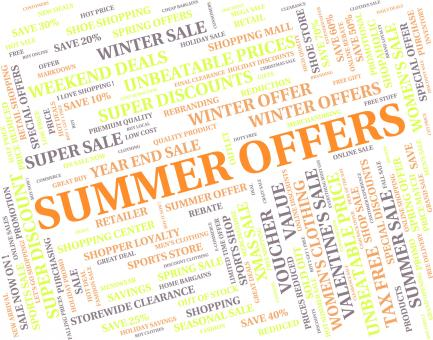 Free Stock Photo of Summer Offers Represents Hot Weather And Bargain