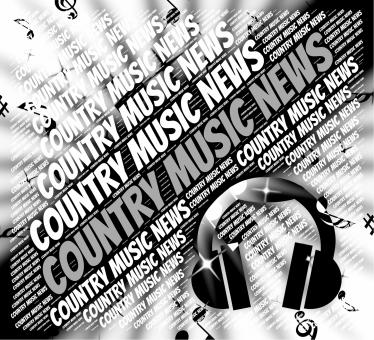 Free Stock Photo of Country Music News Means Sound Tracks And Article