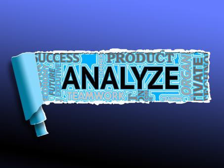 Free Stock Photo of Analyze Word Shows Data Analysis And Analyzing