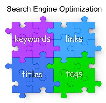 Free Stock Photo of Search Engine Optimization Puzzle Shows Links And Tags