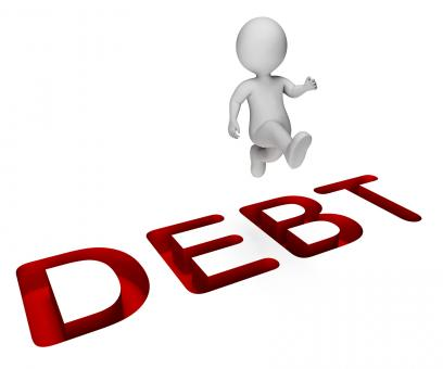 Free Stock Photo of Character Debt Shows Climb Over And Indebtedness 3d Rendering
