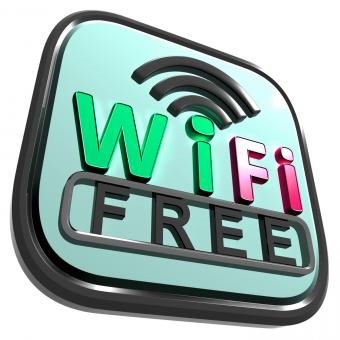 Free Stock Photo of Wifi Free Internet Shows Wireless Connecting