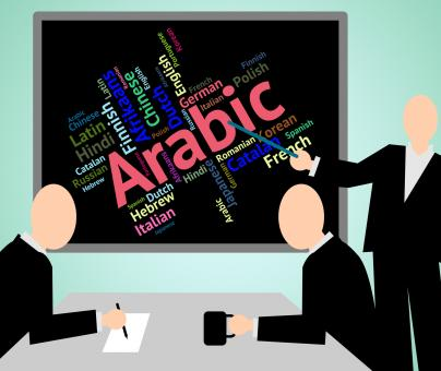 Free Stock Photo of Arabic Language Means Translate Lingo And Word
