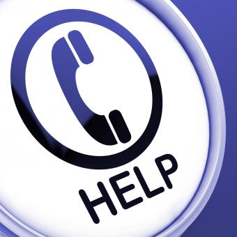 Free Stock Photo of Help Button Shows Call For Advice Or Assistance