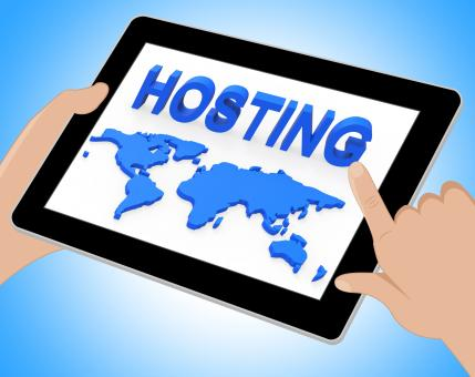 Free Stock Photo of Hosting World Shows Earth Webhosting And Worldwide Tablet