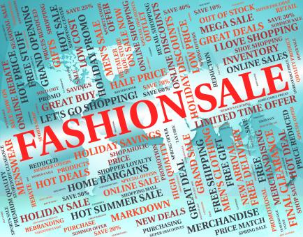 Free Stock Photo of Fashion Sale Shows Glamour Promo And Promotional