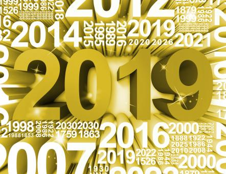 Free Stock Photo of Twenty Nineteen Represents Happy New Year And Annual 3d Rendering