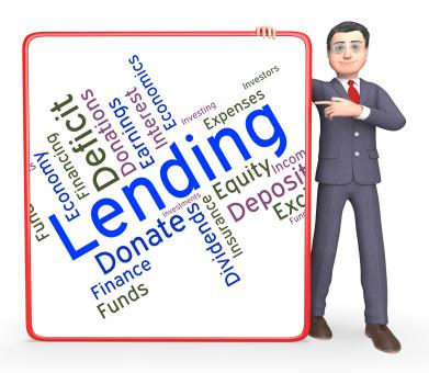 Free Stock Photo of Lending Word Means Loan Lends And Borrows