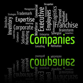 Free Stock Photo of Companies Word Represents Wordclouds Businesses And Corporations