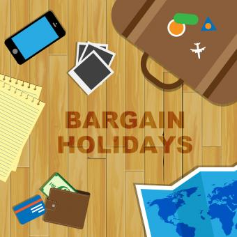Free Stock Photo of Bargain Holidays Indicates Time Off And Bargains