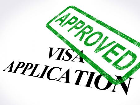 Free Stock Photo of Visa Application Approved Stamp Shows Entry Admission Authorized