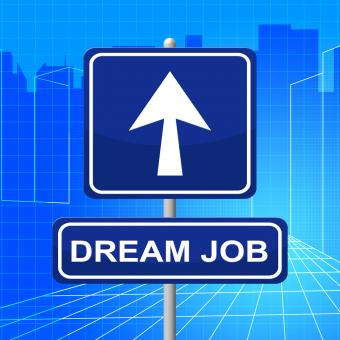 Free Stock Photo of Dream Job Means Recruitment Arrow And Display