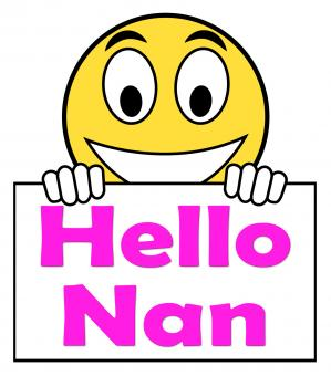 Free Stock Photo of Hello Nan On Sign Shows Message And Best Wishes