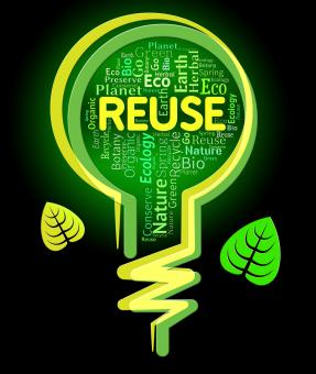 Free Stock Photo of Reuse Lightbulb Represents Go Green And Eco