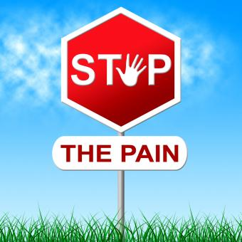 Free Stock Photo of Stop Pain Means Torture Danger And Caution