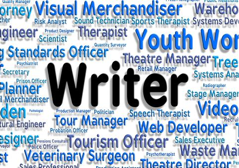Free Stock Photo of Writer Job Shows Text Career And Writers