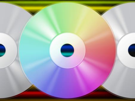 Free Stock Photo of CD Background Means Music Artists And Rainbow Lines