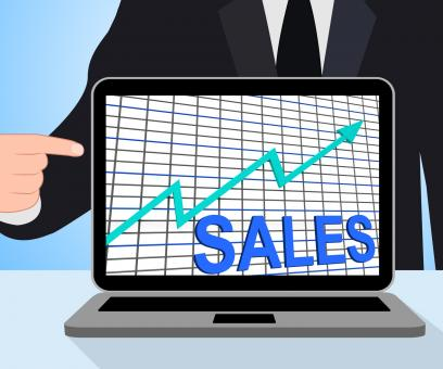 Free Stock Photo of Sales Chart Graph Displays Increasing Profits Trade