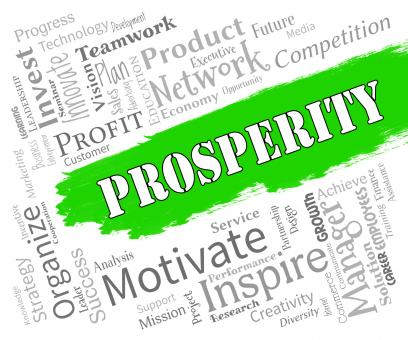 Free Stock Photo of Prosperity Words Shows Profits Wealthy And Riches