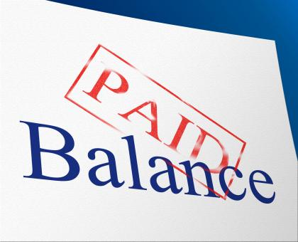 Free Stock Photo of Balance Paid Indicates Confirmation Bills And Equality