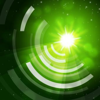 Free Stock Photo of Green Sun Background Means Giving Offf Frequencies