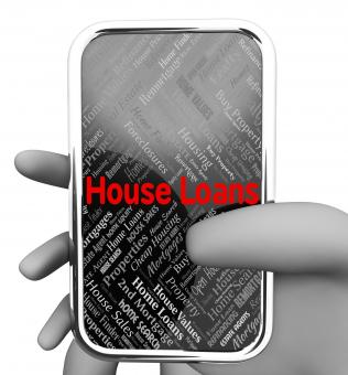 Free Stock Photo of House Loans Indicates Web Site And Advance