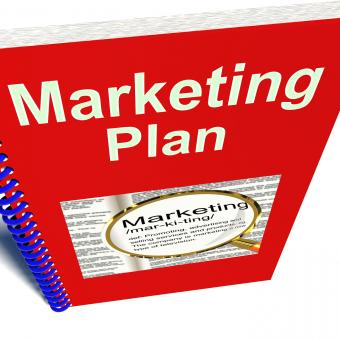 Free Stock Photo of Marketing Plan Book For Promotion Strategy