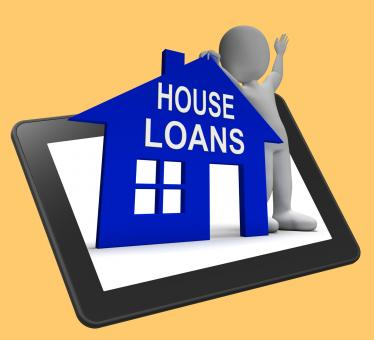 Free Stock Photo of House Loans Home Tablet Shows Borrowing Repayments And Interest