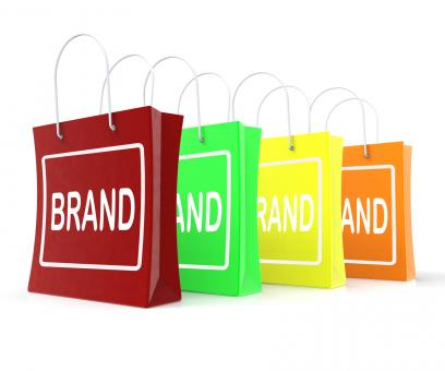 Free Stock Photo of Brand Shopping Bags Shows Branding Trademark Or Label