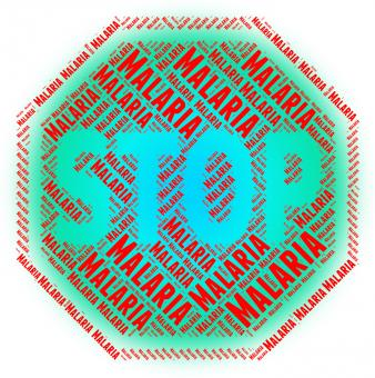 Free Stock Photo of Stop Malaria Shows Stops Disease And Malarial