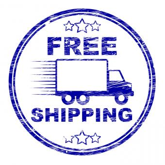 Free Stock Photo of Free Shipping Stamp Represents For Nothing And Complimentary