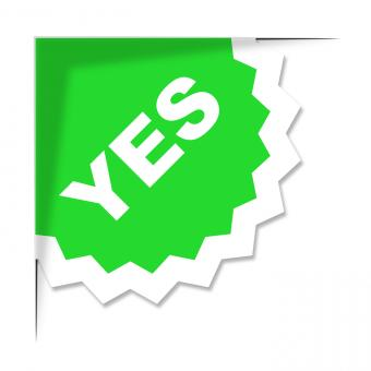 Free Stock Photo of Yes Label Represents All Right And Ok