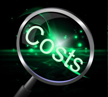 Free Stock Photo of Costs Magnifier Represents Magnification Price And Expenditure