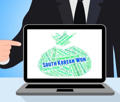Free Stock Photo of South Korean Won Represents Worldwide Trading And Currencies