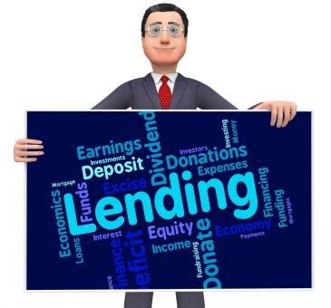 Free Stock Photo of Lending Word Shows Bank Loan And Advance