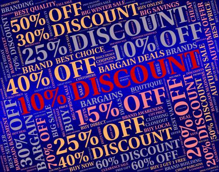 Free Stock Photo of Ten Percent Off Indicates Retail Bargain And Word