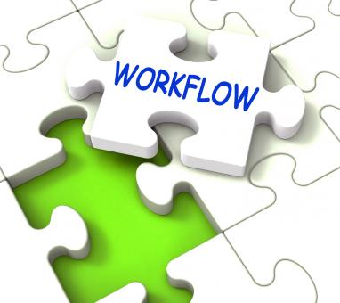 Free Stock Photo of Workflow Puzzle Shows Structure Process Flow Or Procedure