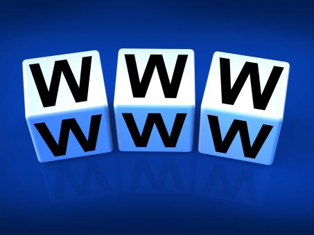 Free Stock Photo of WWW Blocks Refer to the World Wide Web