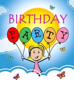 Free Stock Photo of Birthday Party Shows Happiness Congratulations And Greetings