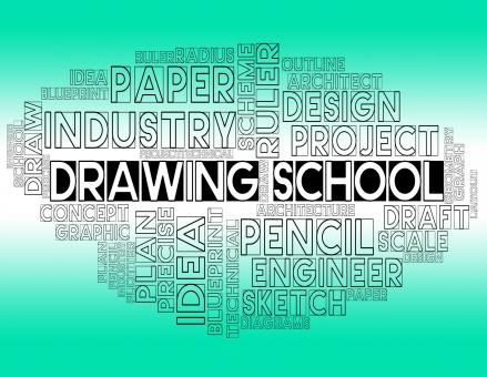 Free Stock Photo of Drawing School Shows Draft Study And Designer